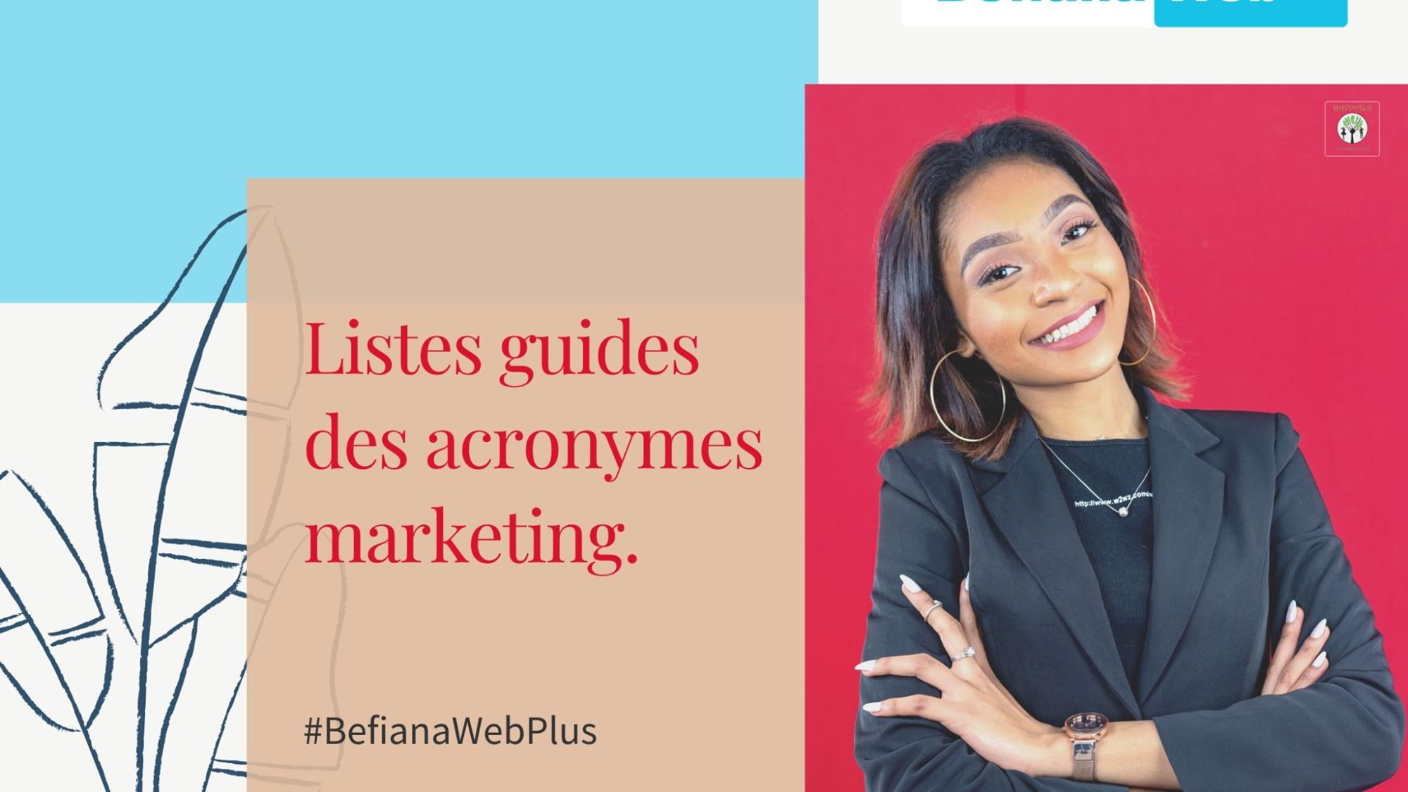 Guide - Les acronymes marketing - Befiana Web Plus